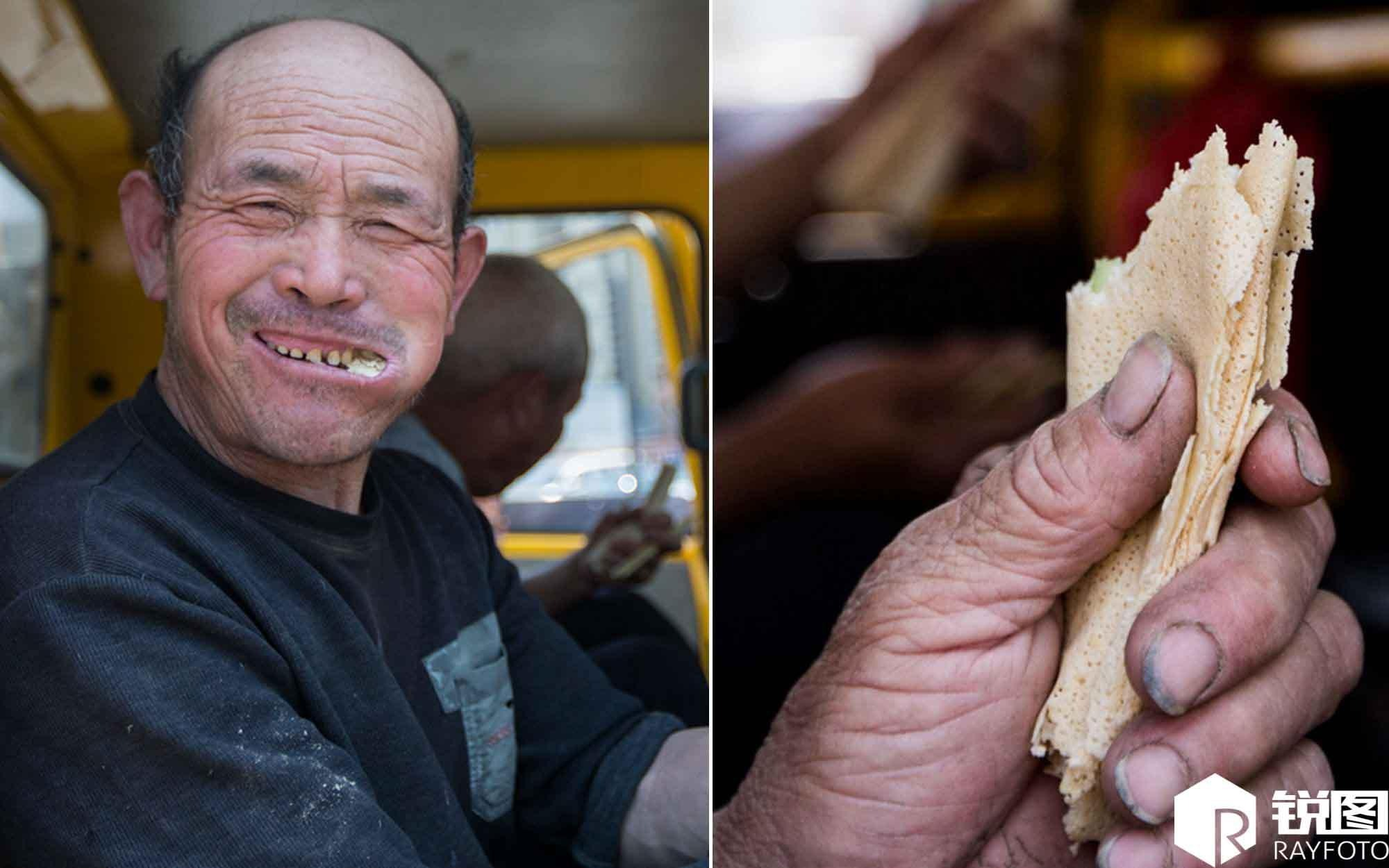Migrant workers with 60 pounds pancake enough to eat lunch every day in April heavy sample of 1 yuan is enough