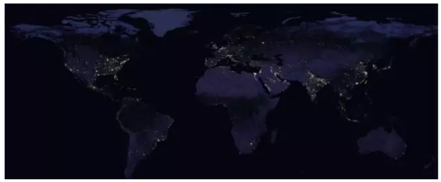 Look at China\'s economic situation from the night light map, far ...