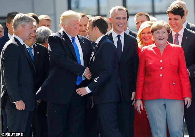 The focus of the NATO summit: the only male in the first ladies' regiment