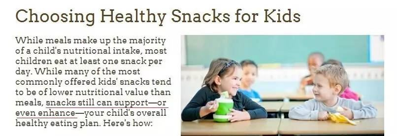 Should the baby eat snacks to stop it? Do you have any snacks that can grow strong?