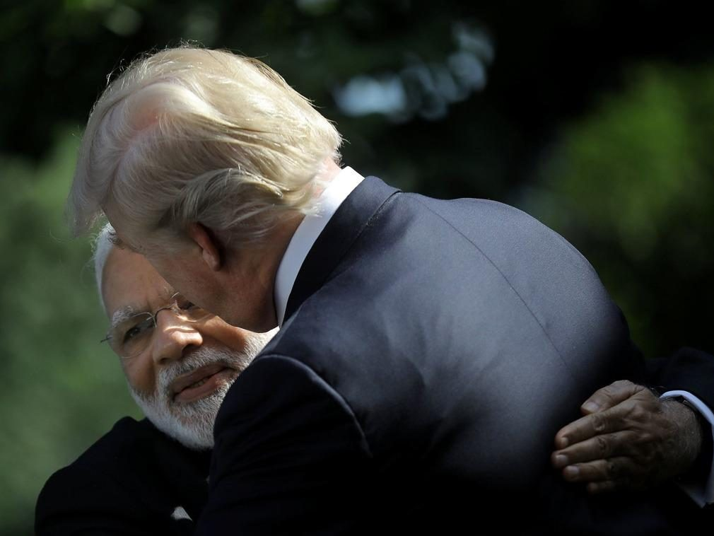 The United States to choose sides? Trump to India