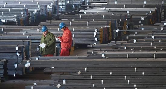 Russia is also connected with steel production to Russia