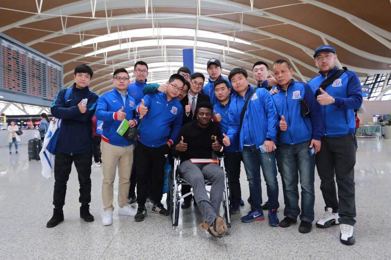 Martins set off for surgery in London Shanghai media: Shenhua or signing back to Bamba with 1 terms
