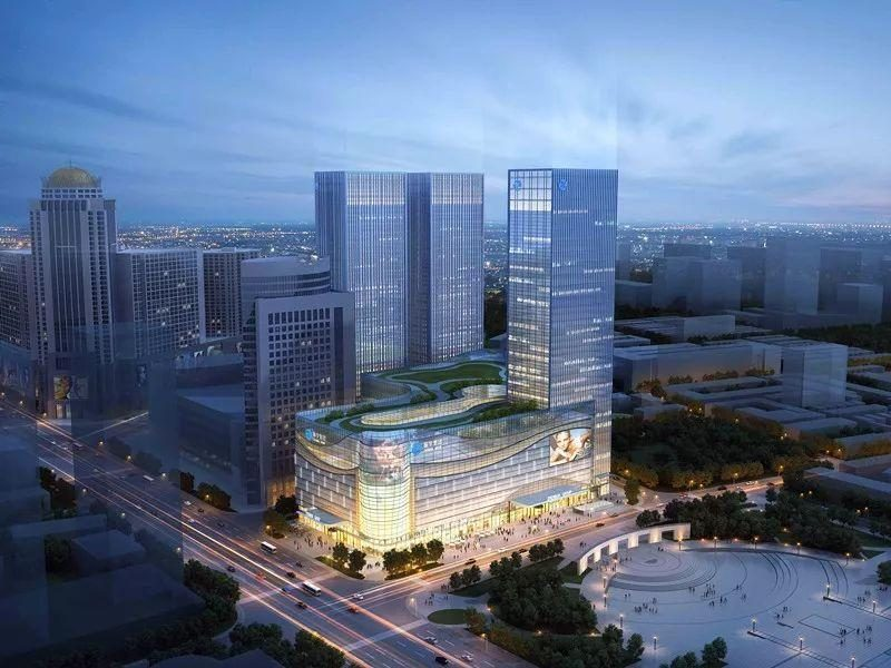 Look! A new shopping mall will be built on the south side of Xinhua Square in Hohhot.