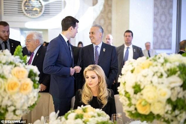 Ivanka attended a gala dinner in Israel, wearing a black skirt and a black jacket