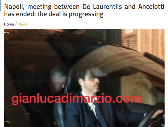 Ancelotti is close to coaching Naples and secretly talks with the chairman for 3 hours late at night