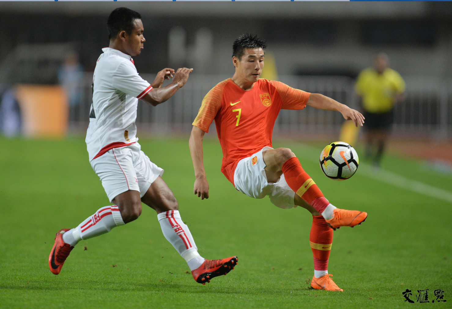 Warm-up match in the National Stadium in Nanjing Jiangning Sports Center 1 to 0 victory over Myanmar