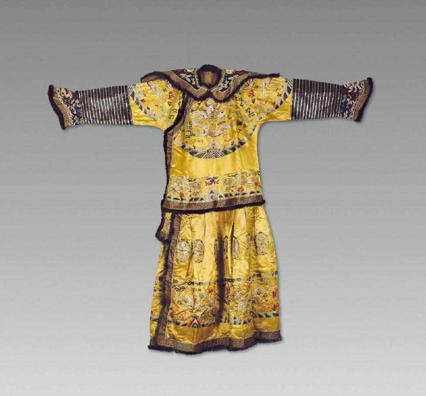 What level of officials in the Qing Dynasty can wear