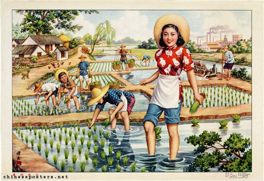 Posters of the 1950s, look at the image of Chinese women at that time
