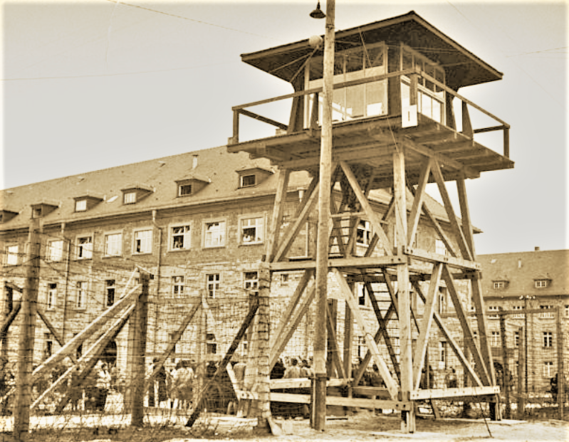 Old photos of the Nazi concentration camp during the Second World War. The inside of the iron bar is like hell.