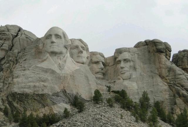 Why is the American president engraved on the mountain old Roosevelt instead of Roosevelt?