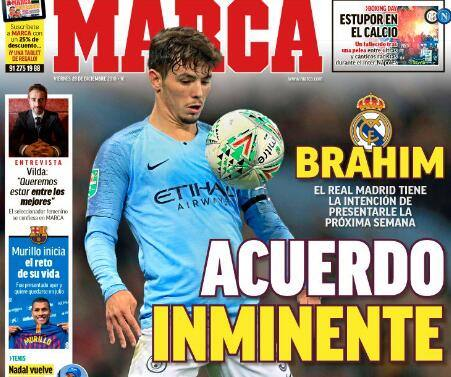 Marca: Real Madrid finalizes Manchester City teenager Diaz, the two sides will sign for 6 years