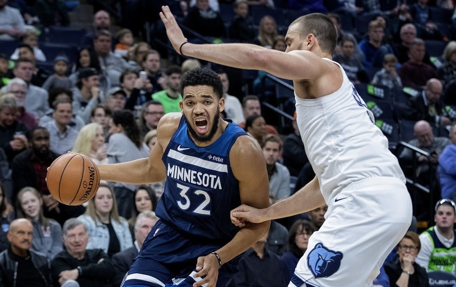 Live NBA: Grizzlies VS Timberwolves Downs 0:3 foul at half time
