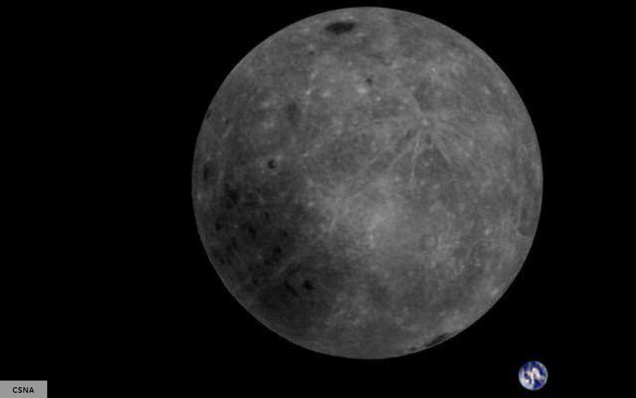 Foreign media: Chinese satellite returns clear images, the back of the moon and the Earth in the same frame, exciting!