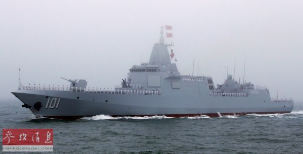 China's new warships appeared on Parade at sea and foreign media marveled at the speed of Chinese shipbuilding