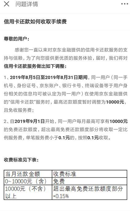 Jingdong Finance, Baidu's Xiaoman: From next month, credit card repayment will be charged an additional service fee