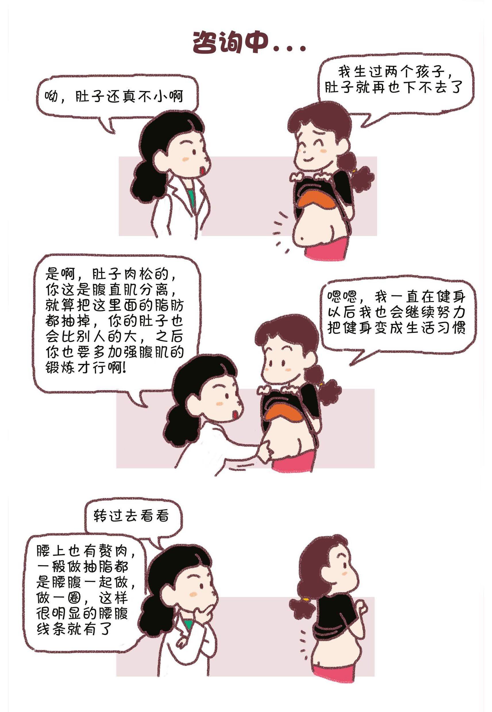漫画 抽脂丰胸奇遇记1