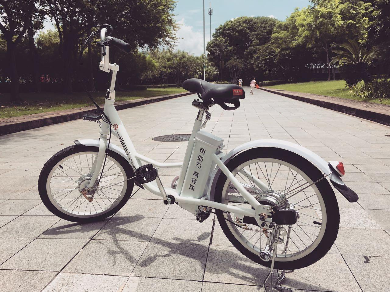 共享电单车骑行不费劲 夜灯自动亮