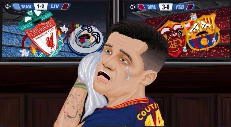 库蒂尼奥悲剧了!欧冠没得踢巴萨还出局 被利物浦进四强打脸