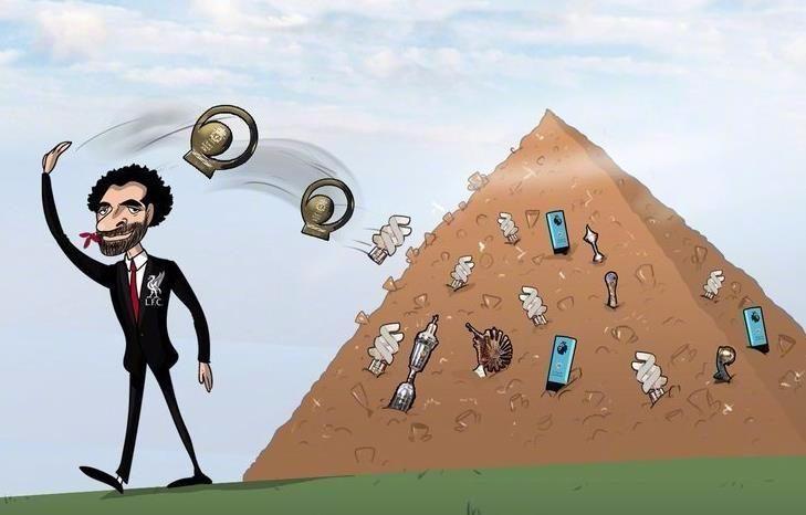 最强收割机!萨拉赫狂斩34项个人荣誉 金字塔顶端还差座欧冠