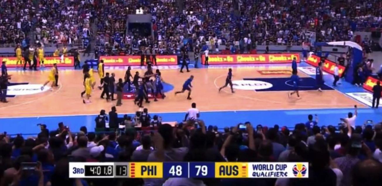 世预赛上演超级斗殴!菲律宾澳洲互殴 朱8神拳再现江湖