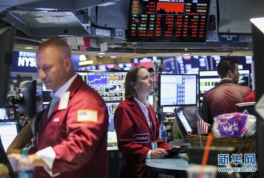 纽约股市三大股指11日收盘下跌 油价跌7%
