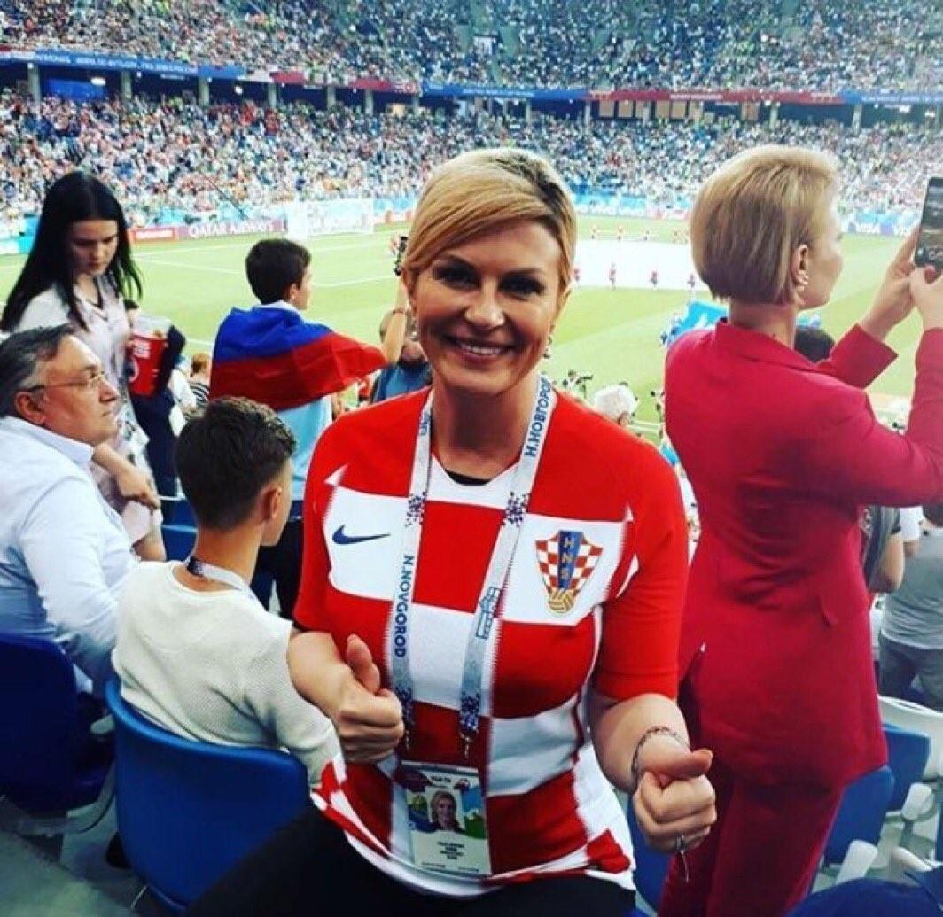 克罗地亚美女总统,以娇媚的容貌和性感奔放的形象走红世界杯