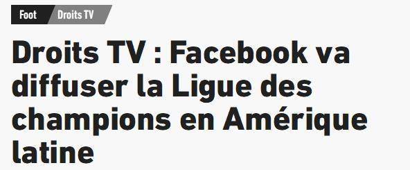 再出新合作,脸书将在拉丁美洲地区直播欧冠