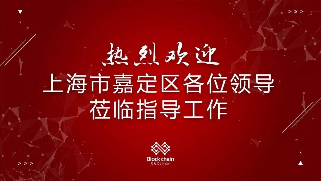 欢迎上海嘉定区领导莅临我司调研走访 共商区块链赋能实体促发展