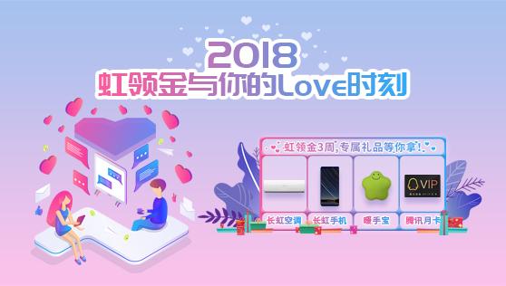 2018虹领金三周年年度盘点上线,多重福利回报用户