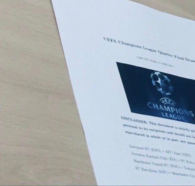 曝欧冠八强抽签结果提前泄露,曼联对热刺?曼联恐因曼城失一优势