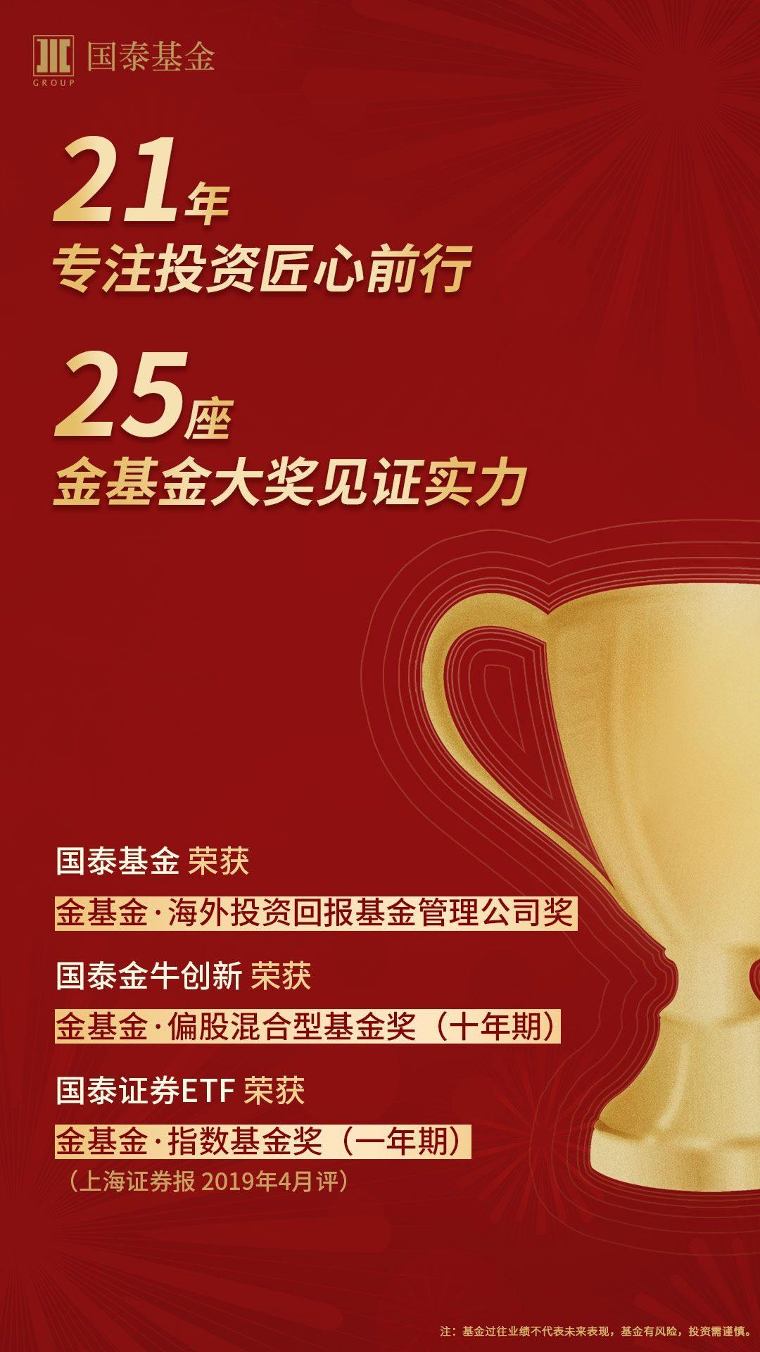 21年专注投资匠心前行,25座金基金大奖见证实力