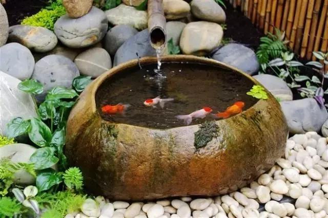 现代和中式别墅庭院水景设计参考