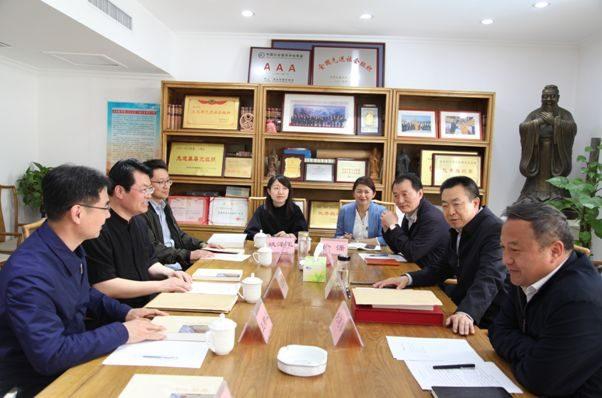 中国国家博物馆研究员、国博基金会代秘书长晁岱双同志一行六人到访中国孔子基金会秘书处