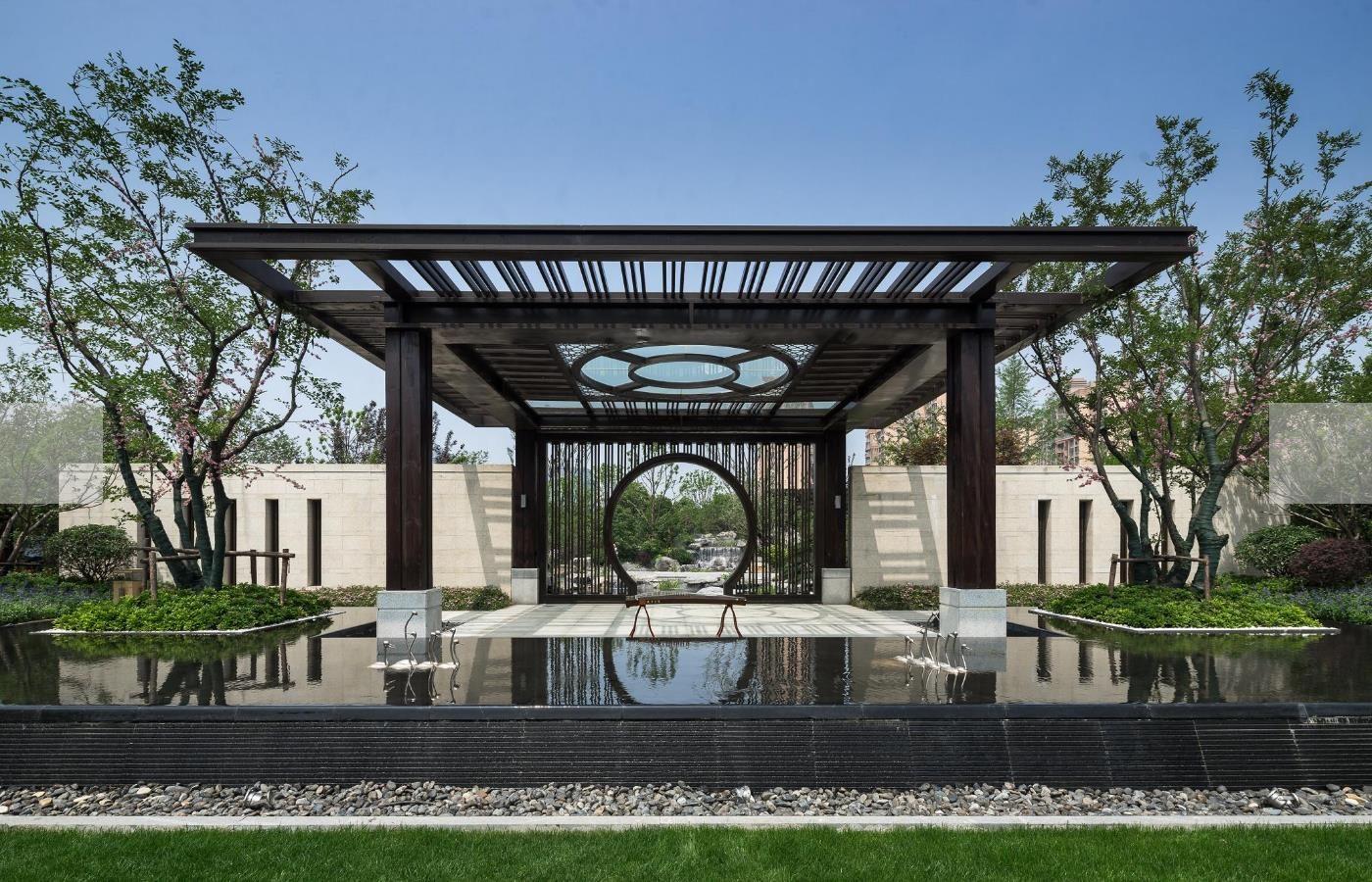 最美新中式园林景观之苏州乾唐墅展示区景观设计