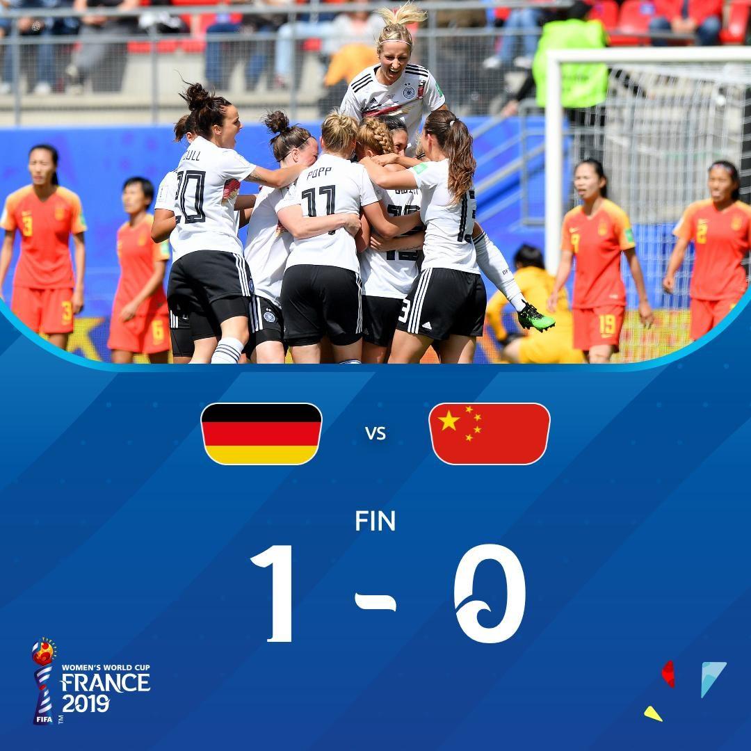 女足世界杯中國隊所在小組積分榜:西班牙超德國居首,中國第三!
