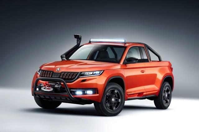 基于斯柯达柯迪亚克SUV车型改装,斯柯达双门皮卡概念车亮相