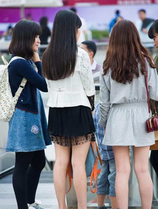 街拍:時尚高跟鞋美女, , 美女閨蜜甜美搶鏡!