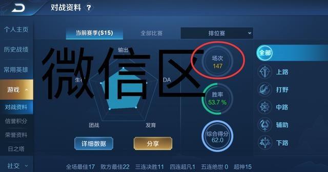 王者荣耀 QQ区和微信上分难度对比 选英雄时差距就已经很明显了