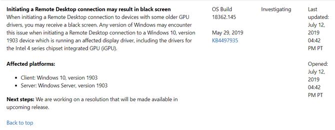 一点资讯】远程桌面黑屏BUG?微软:正在制作修复补丁www
