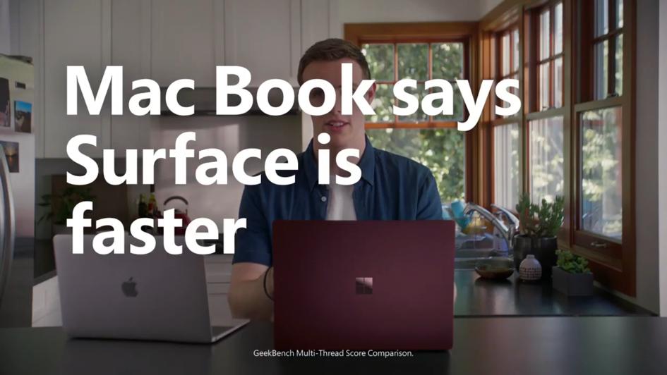 微軟廣告腦洞大開,讓叫「Mac」的人說 Surface 更好用