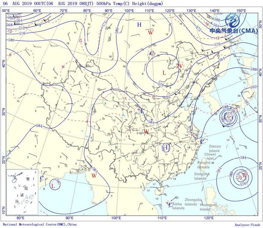警惕!中东部大范围特凶暴雨将至,台风利奇马或为暴雨元凶