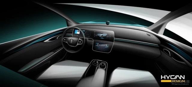 合创首款SUV车型内饰官图 预计年底上市
