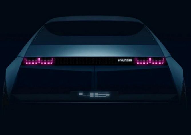 """现代将推名为""""45""""的纯电动车型  9月10日亮相"""