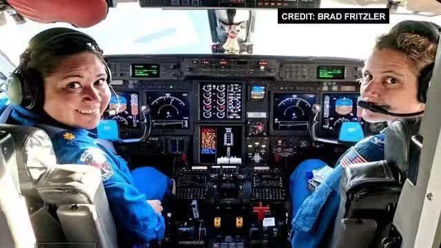 女飓风猎人行动:美国首次全女性机组人员直飞飓风多里安中心