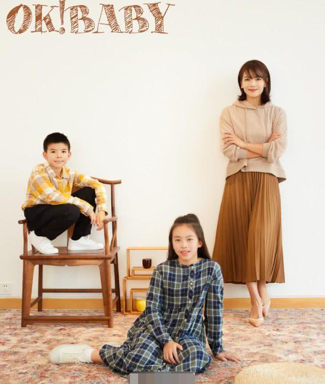 刘涛带子女上封面,女儿长成美少女,儿子像小绅士,三人颜值超高