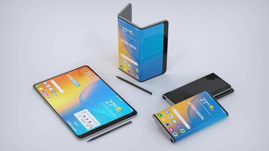 沉寂许久的LG,获得了折叠屏手机新专利