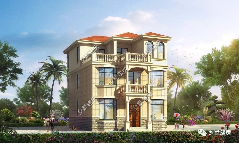 10x12米三层别墅,兼具美观与舒适,十分符合大众的审美!