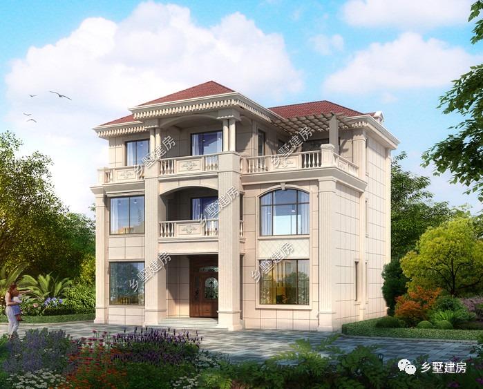 14x12米的欧式别墅,低调奢华有趣味,建一栋皆大欢喜!