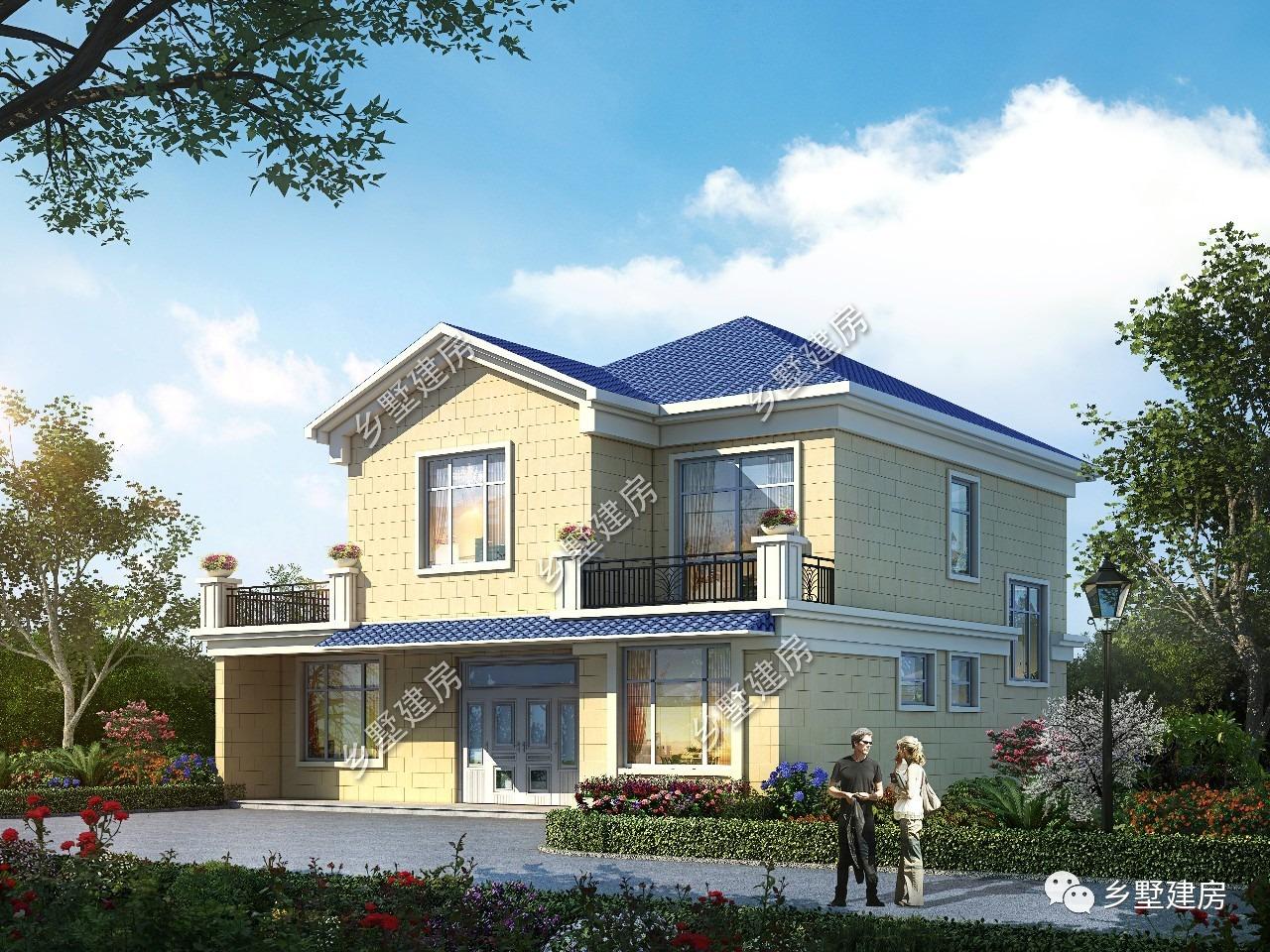12.52×11.76米二层农村别墅,回归自然,美好的选择!